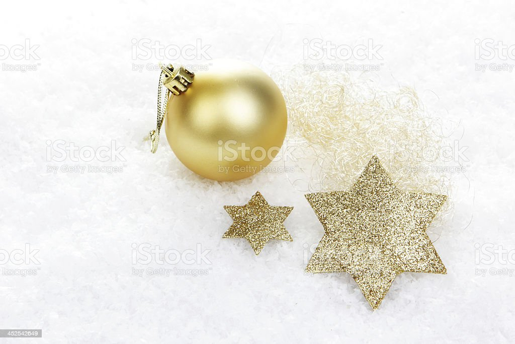Weihnachten, Weihnachtsdekoration gold stock photo
