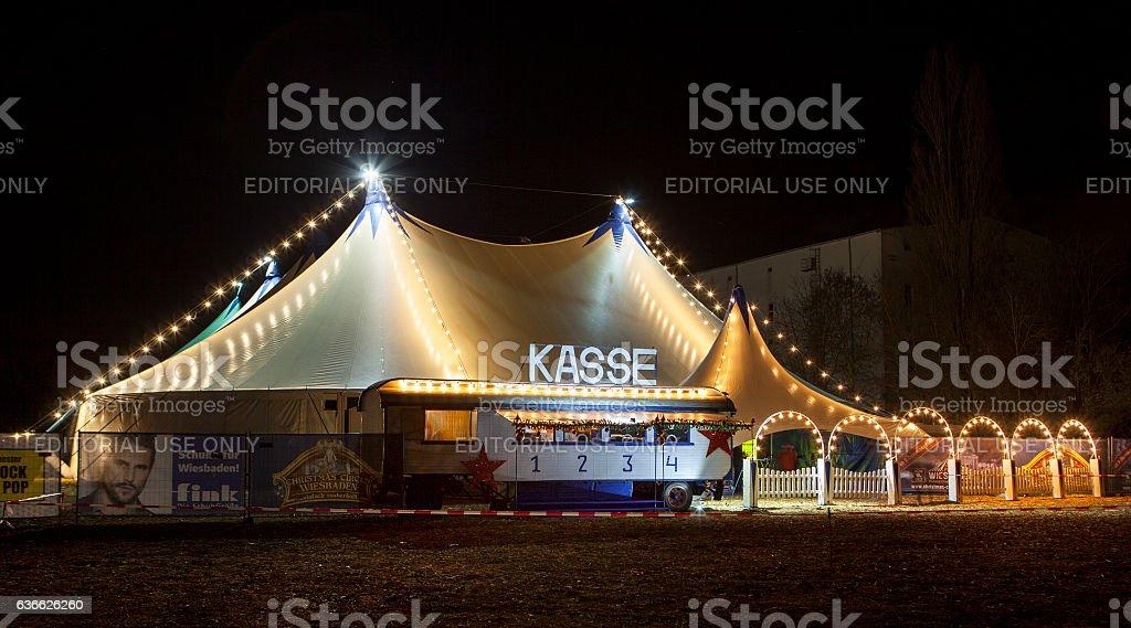 Christmas Circus Wiesbaden, Germany stock photo