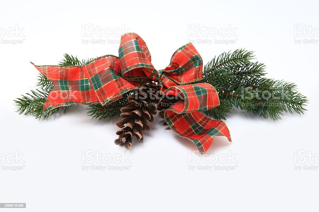 Christmas classic decoration isolated on white stock photo