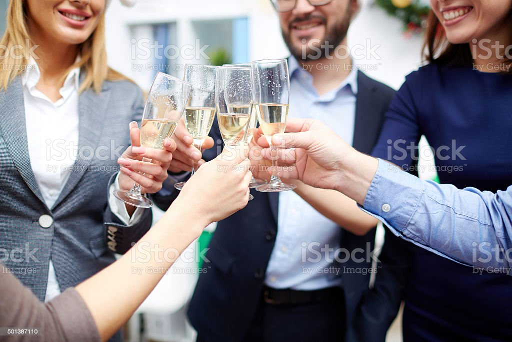 Christmas clink stock photo