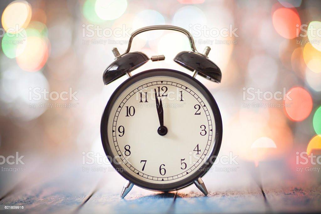 Christmas Clock stock photo