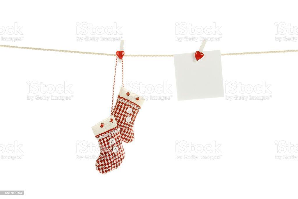 Christmas clothesline royalty-free stock photo