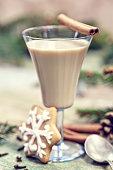 Christmas cocktail - traditional eggnog