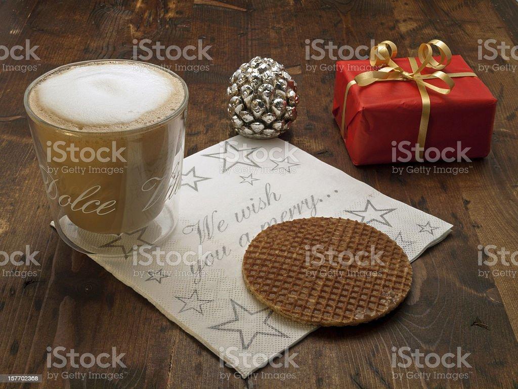 Christmas coffee break royalty-free stock photo