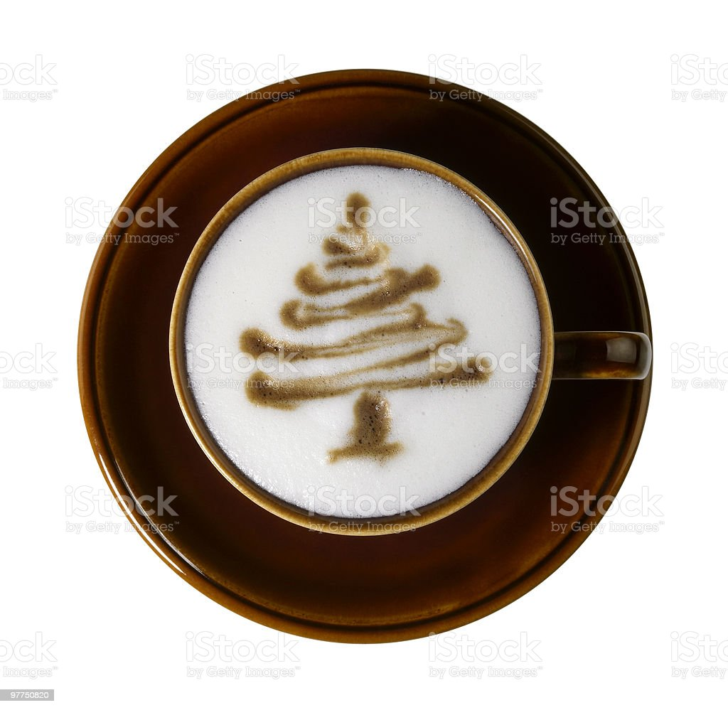 christmas coffee cup stock photo