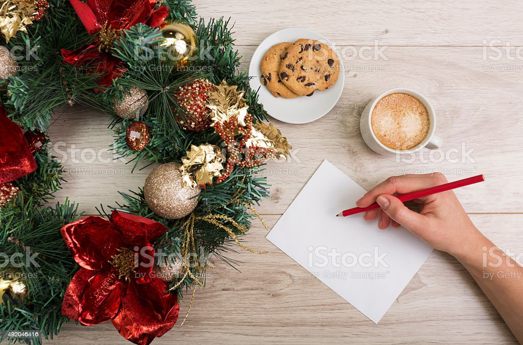 Christmas coffee stock photo