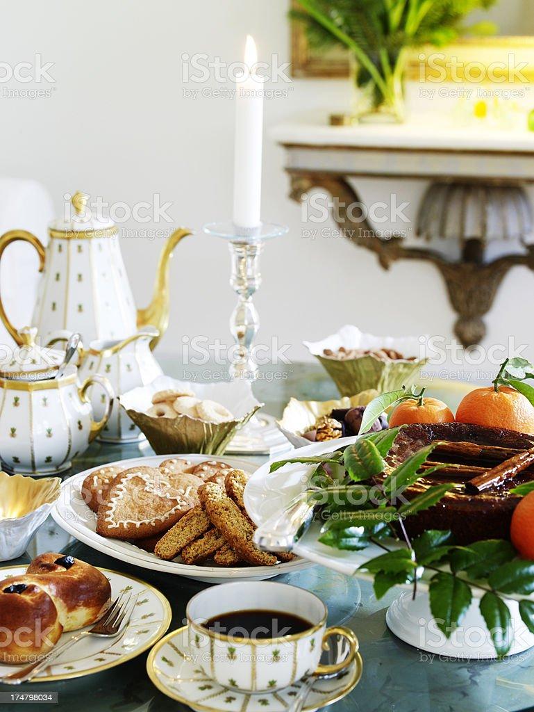Christmas coffee table royalty-free stock photo