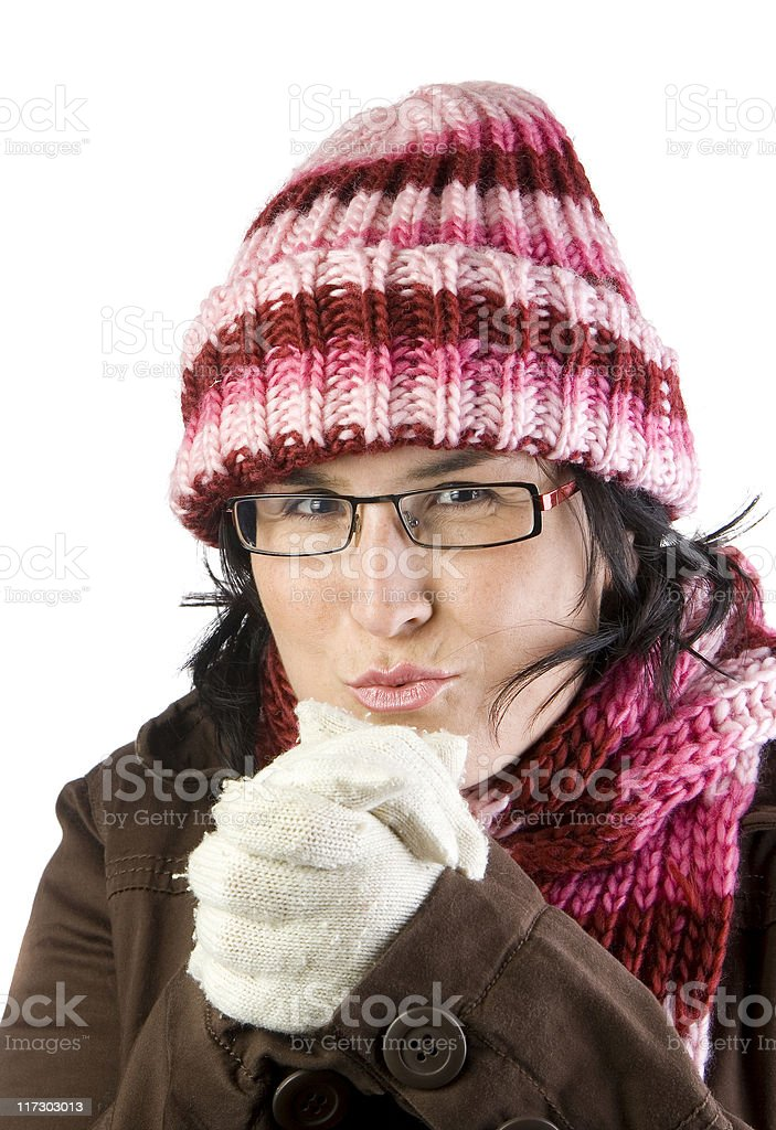christmas cold girl royalty-free stock photo