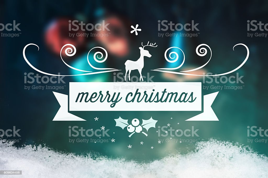 christmas collage with decoration  and vintage line ornament stock photo