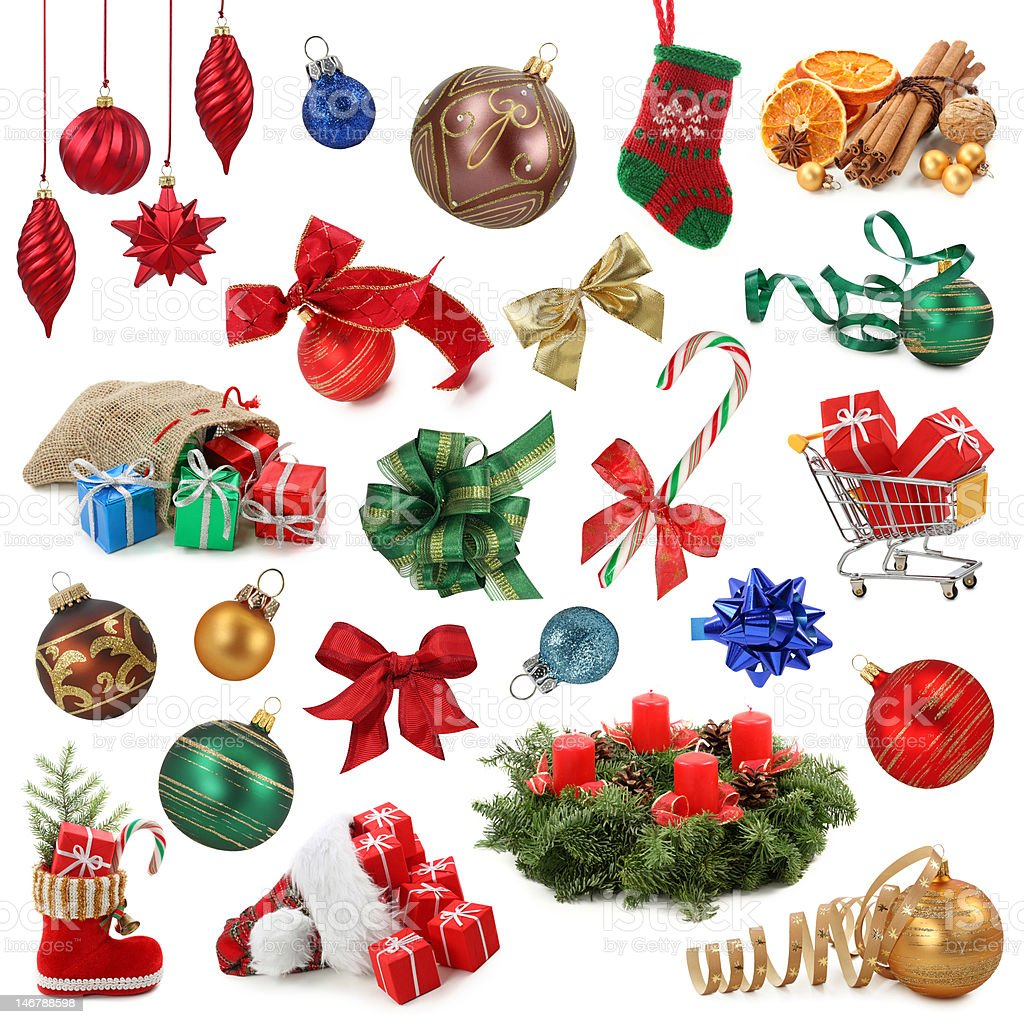 Christmas collection royalty-free stock photo