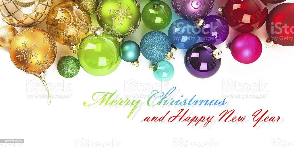 Christmas colored balls stock photo