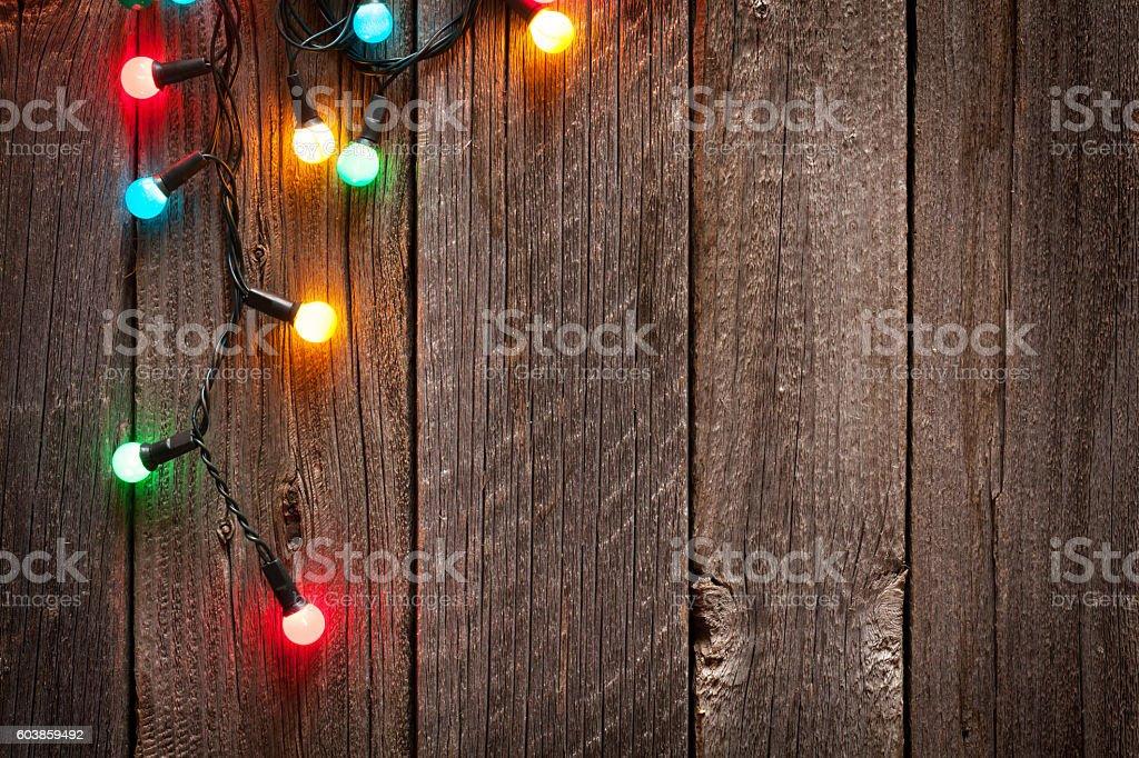 Christmas colorful lights stock photo