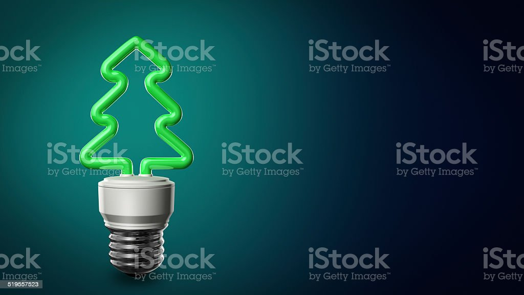 Christmas Compact Fluorescent Lightbulb stock photo