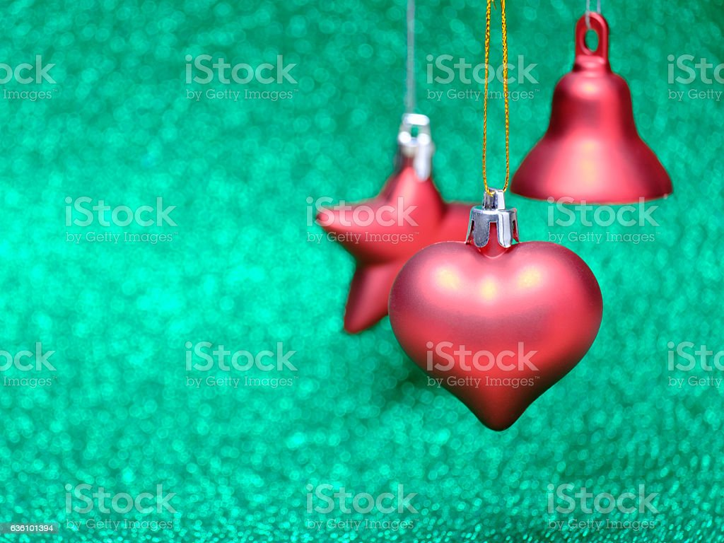 Christmas composition on bright background stock photo