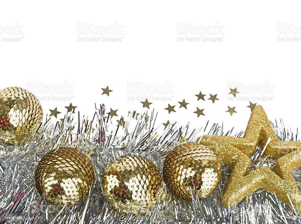 Christmas composition with balls and stars royalty-free stock photo