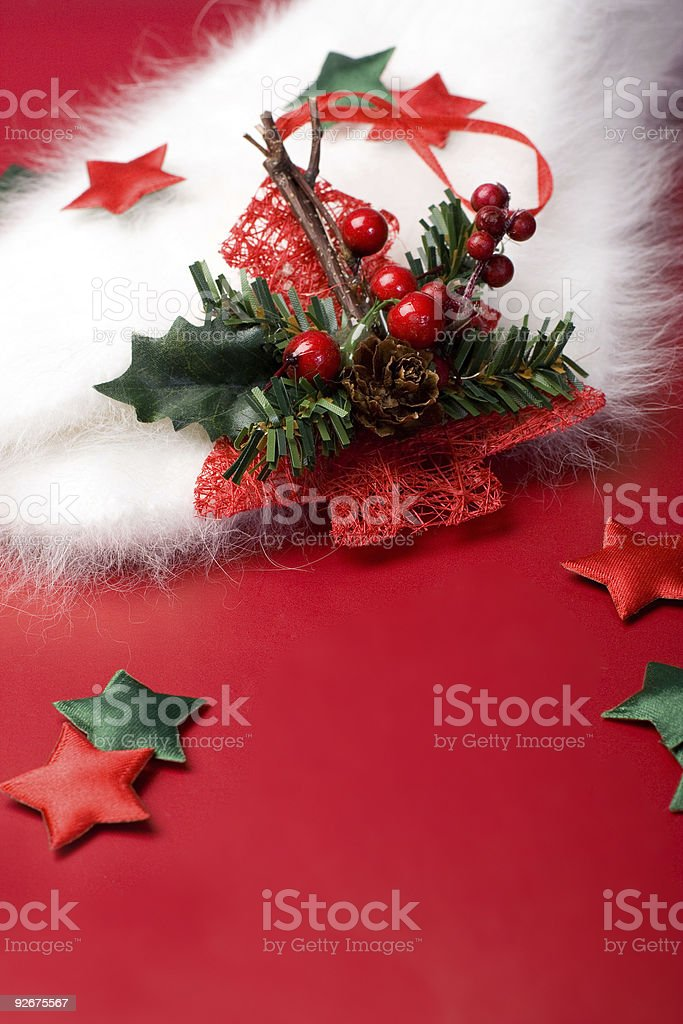 Christmas composition with copy space royalty-free stock photo