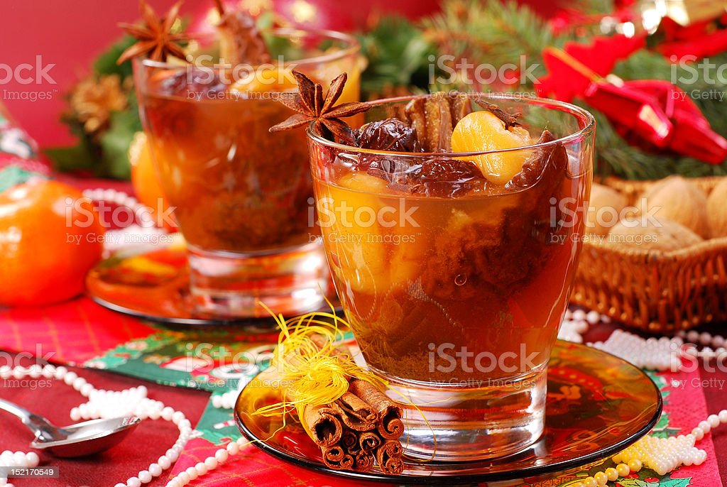 christmas compote of dried fruits royalty-free stock photo