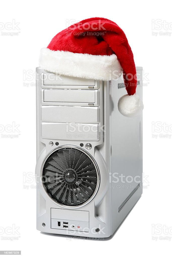 Christmas Computer stock photo