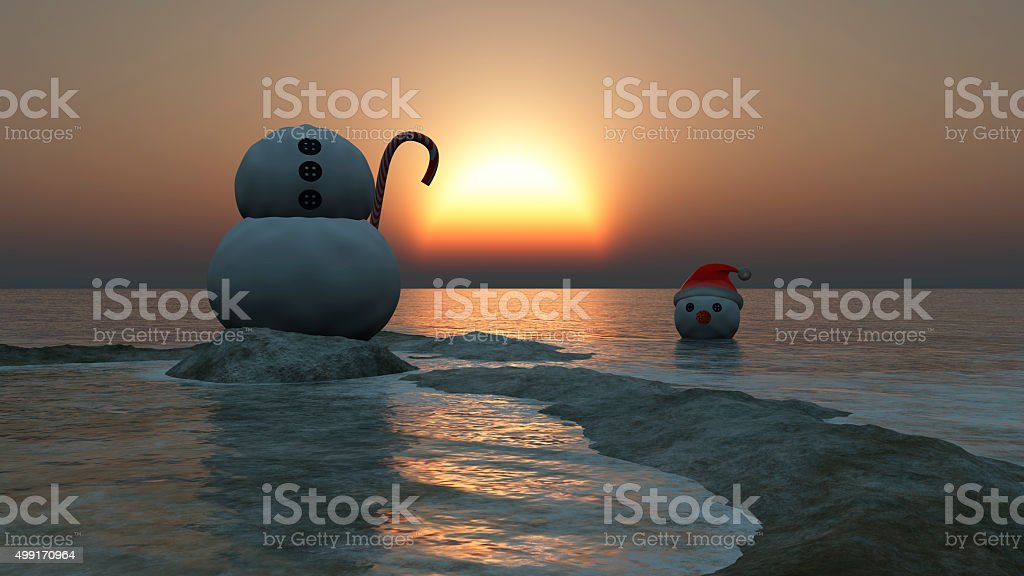 Christmas concept with snowman stock photo