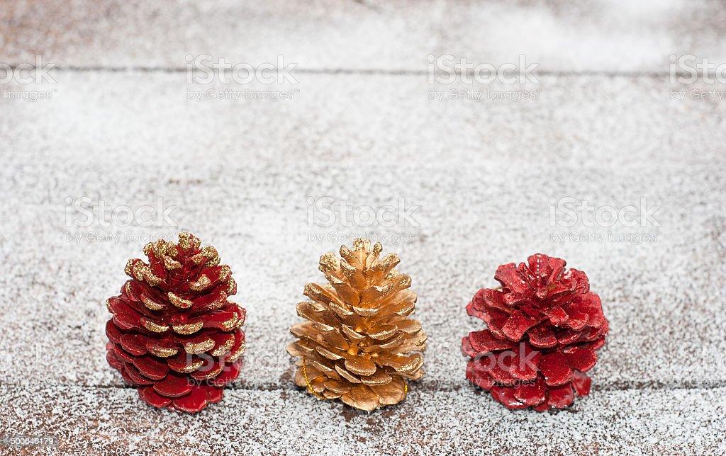 Conos de Navidad foto de stock libre de derechos