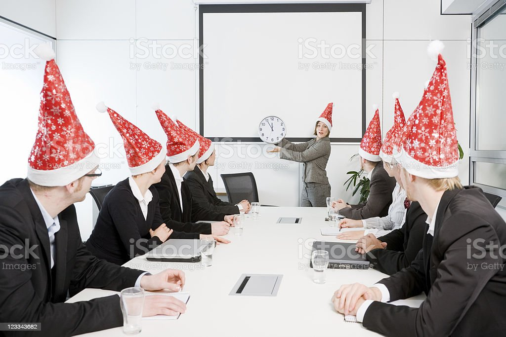 Christmas Conference royalty-free stock photo
