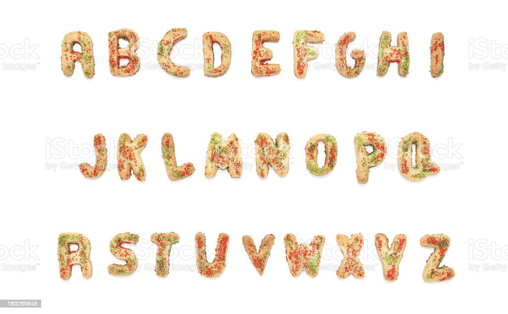 Christmas Cookie Alphabet stock photo