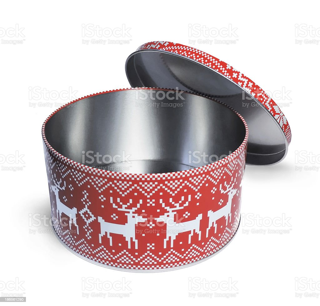 christmas cookie box stock photo