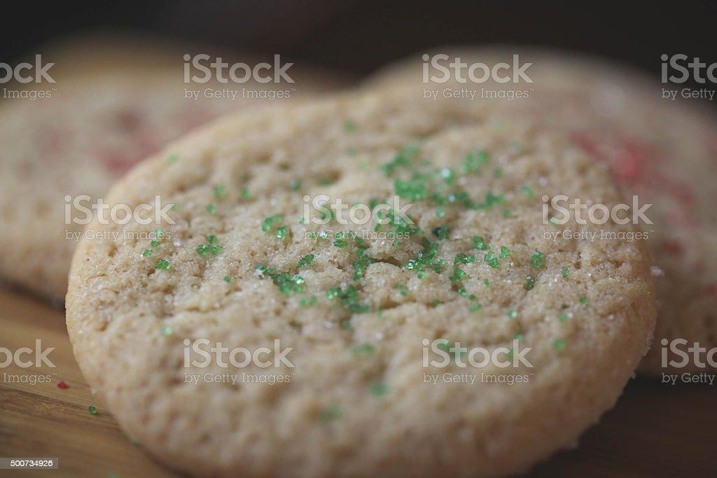 クリスマスクッキーのクローズアップ ロイヤリティフリーストックフォト