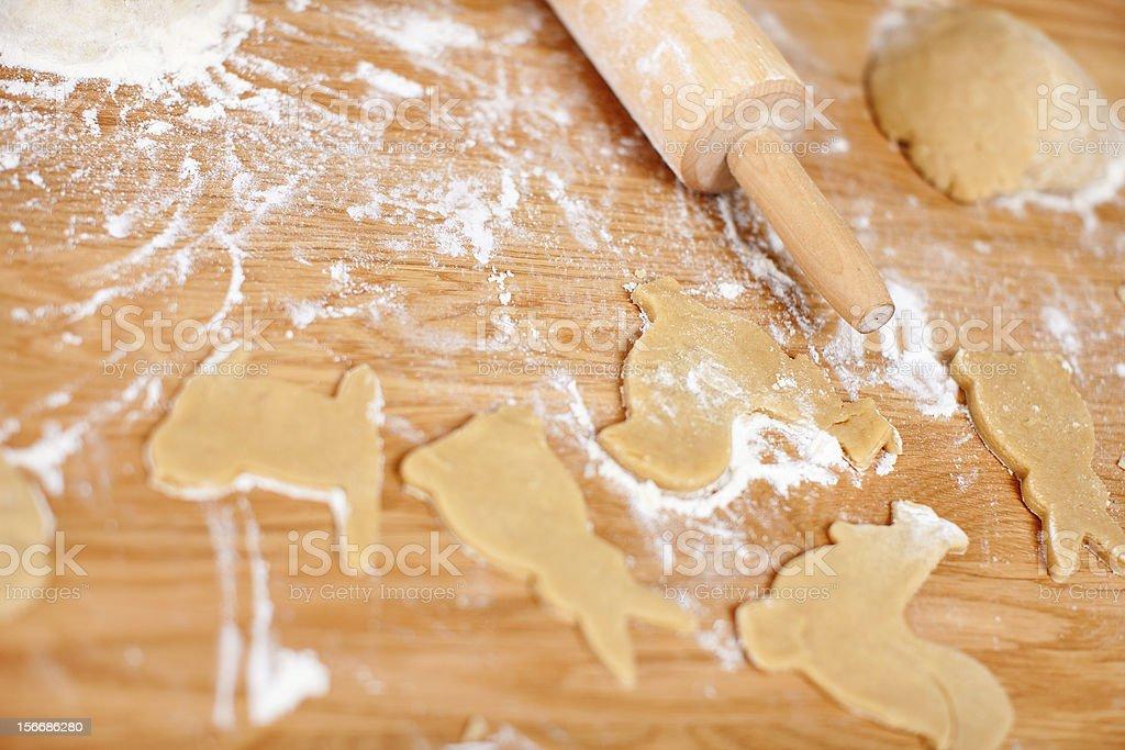 Christmas cookies baking royalty-free stock photo
