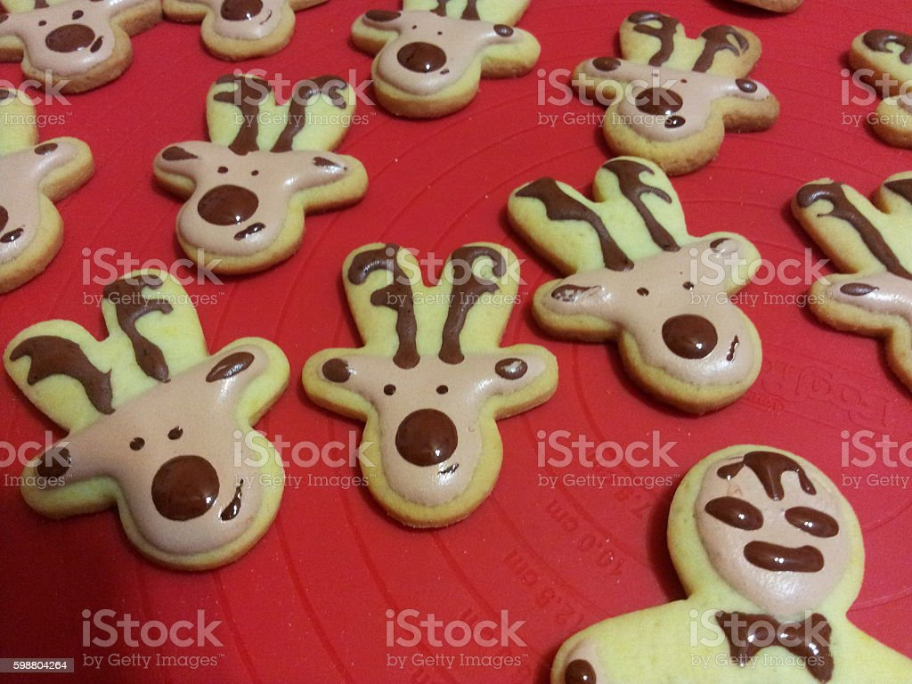 Christmas cookies, Biscotti di natale. royalty-free stock photo