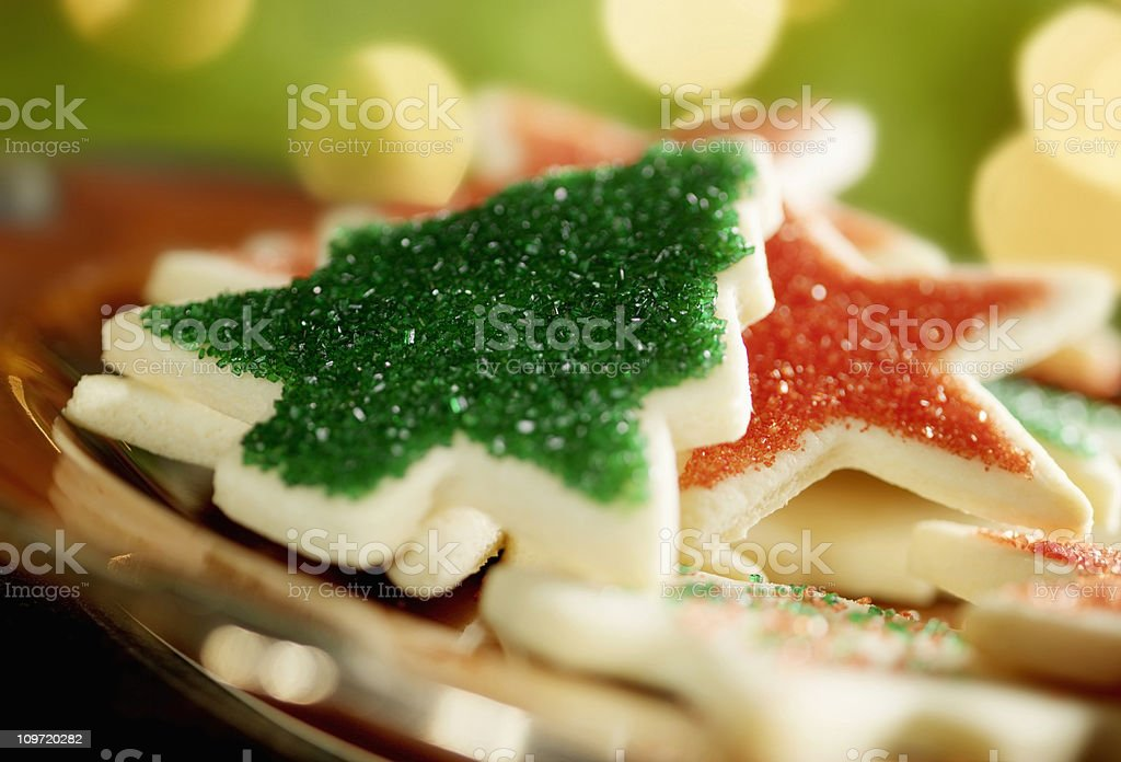 Christmas Cookies by the Tree stock photo