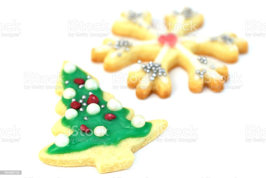 christmas cookies - decorated by children stock photo