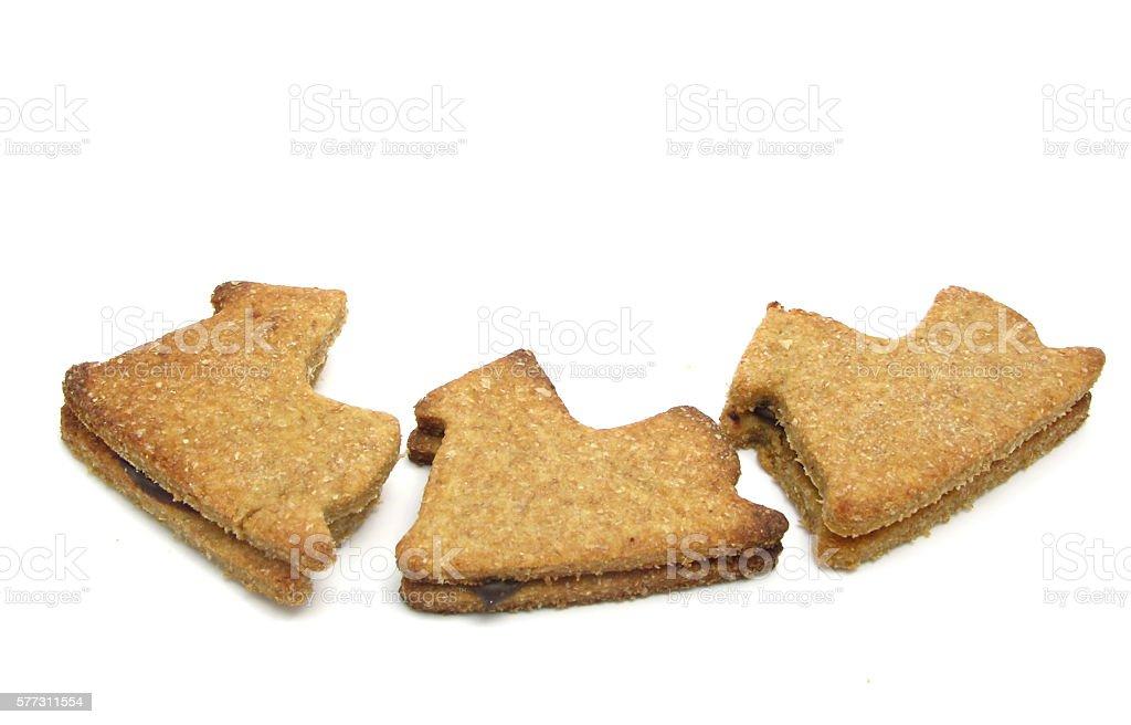 Christmas cookies on white stock photo