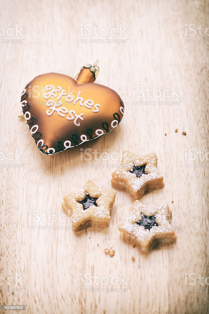 Christmas Cookies - Spitzbuben stock photo