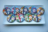 Christmas cookies - Snowman ball