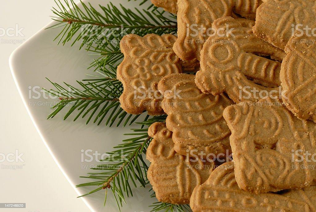 Christmas cookies Spekulatius stock photo