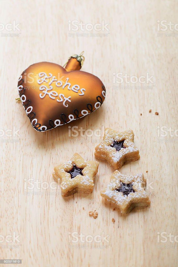 Christmas Cookies - Spitzbuben stock photo