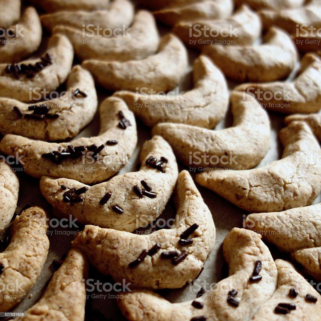 Christmas Cookies - Vanillekipferl stock photo