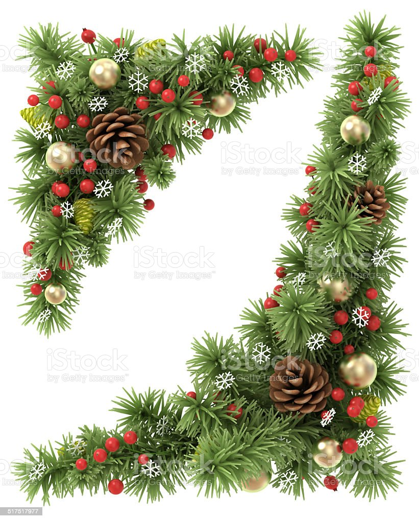 Christmas corners set. stock photo