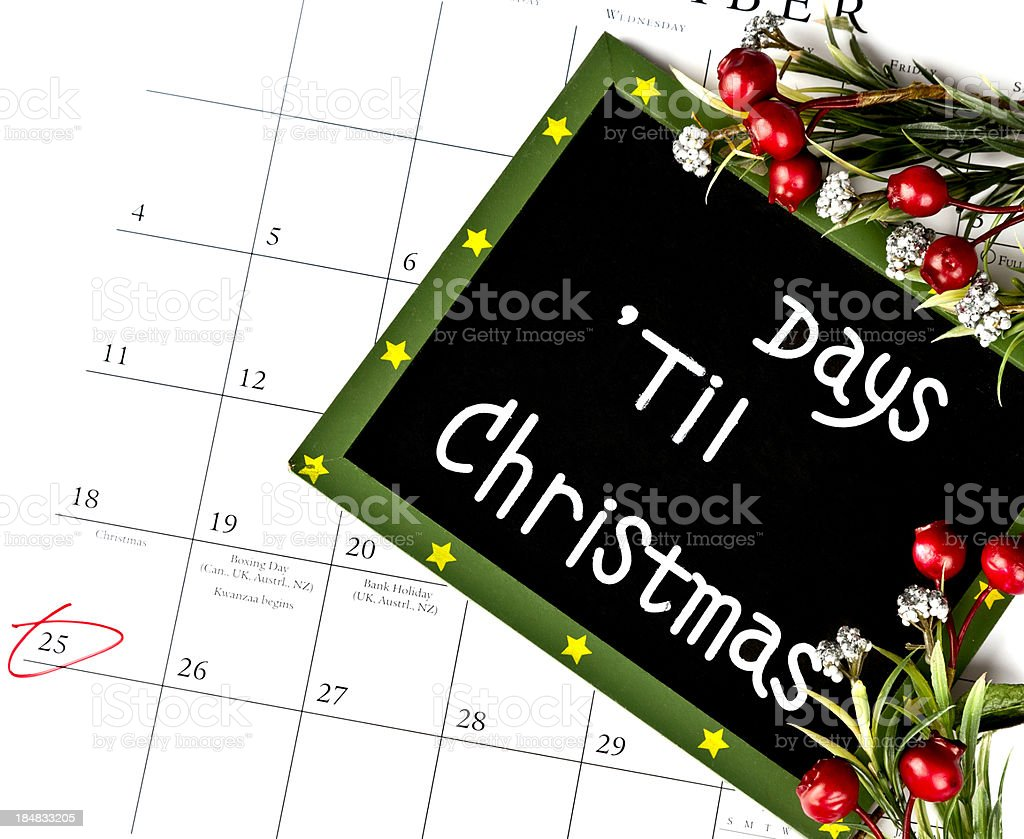 Christmas Countdown royalty-free stock photo