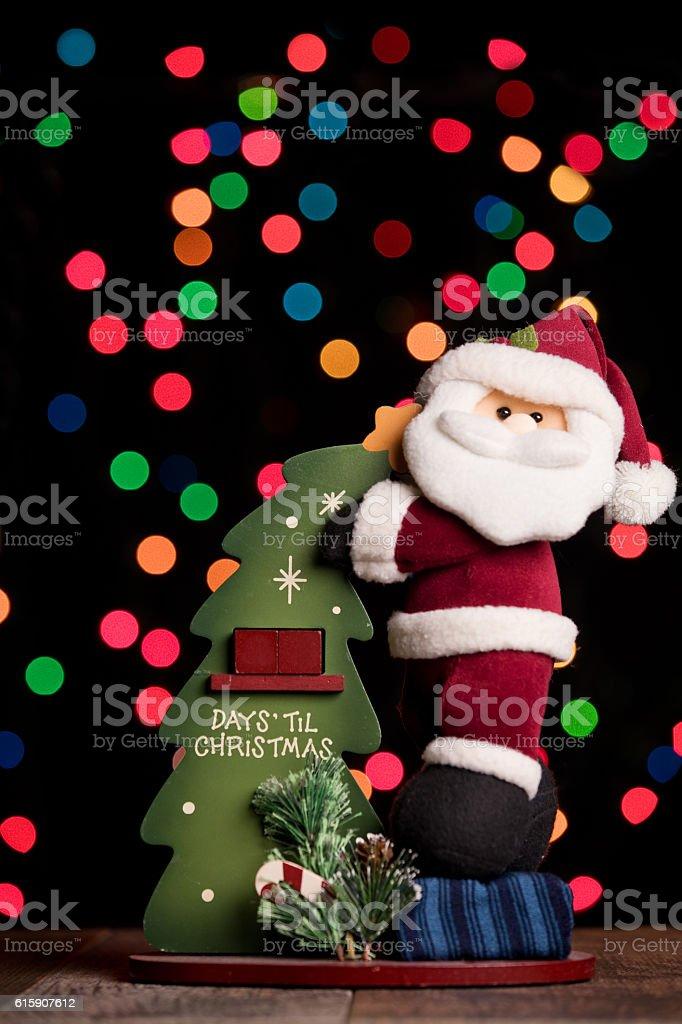 Christmas Countdown Santa stock photo