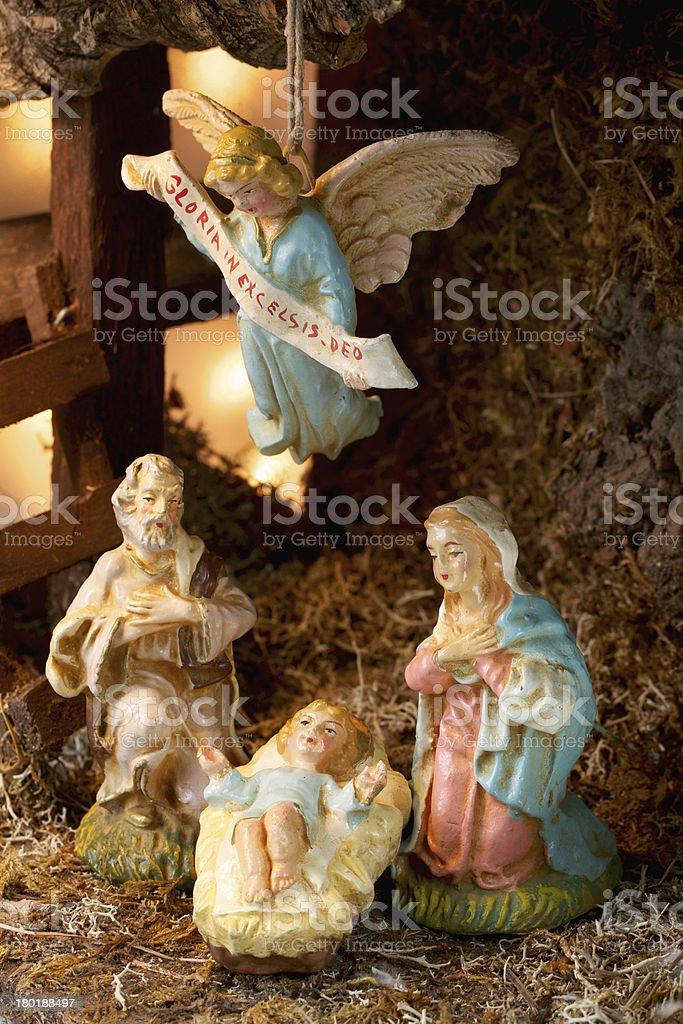 Christmas Crib Scene royalty-free stock photo