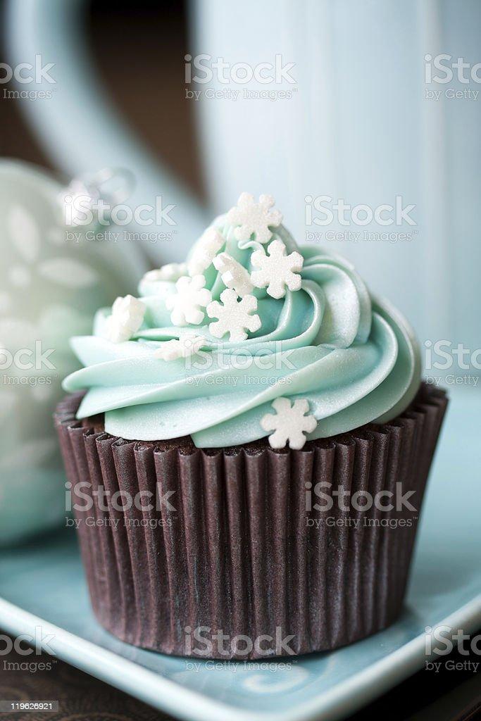 Christmas cupcake royalty-free stock photo