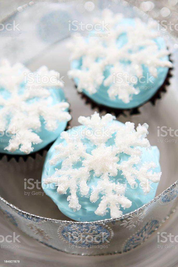 Christmas cupcakes royalty-free stock photo