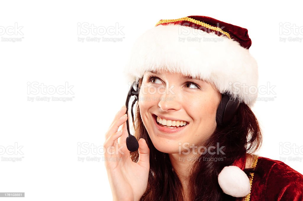 christmas customer support stock photo