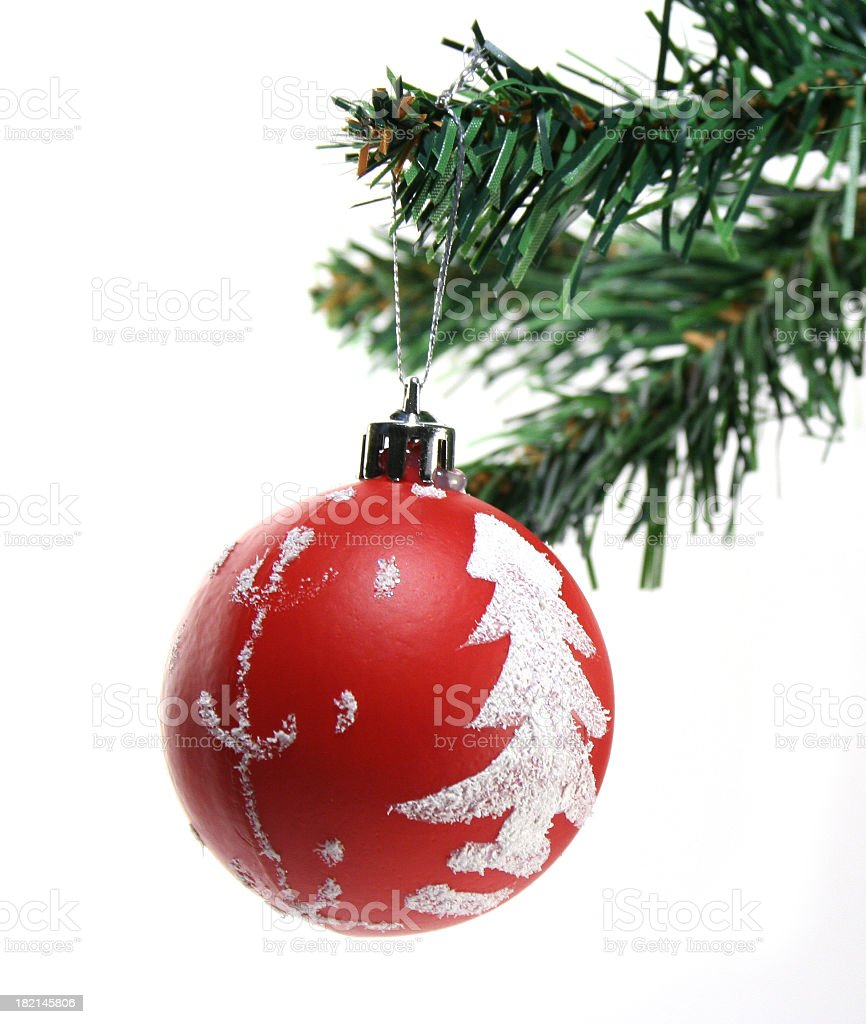 Christmas Dangling Ornament royalty-free stock photo