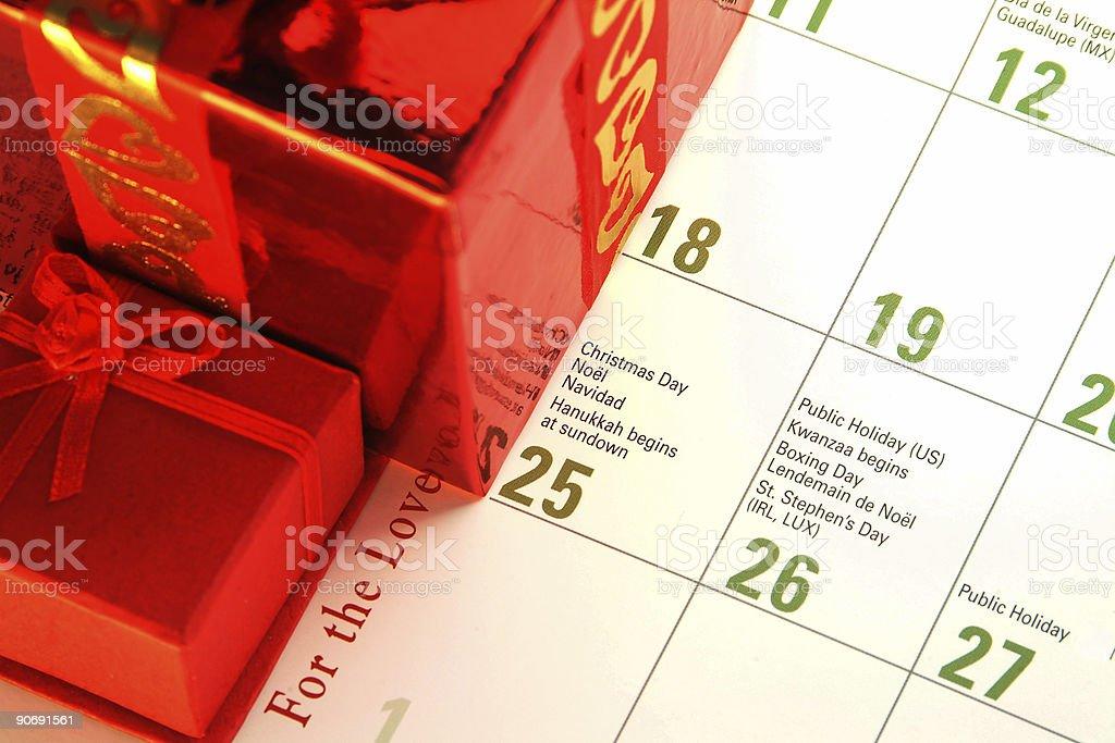 Christmas Date stock photo