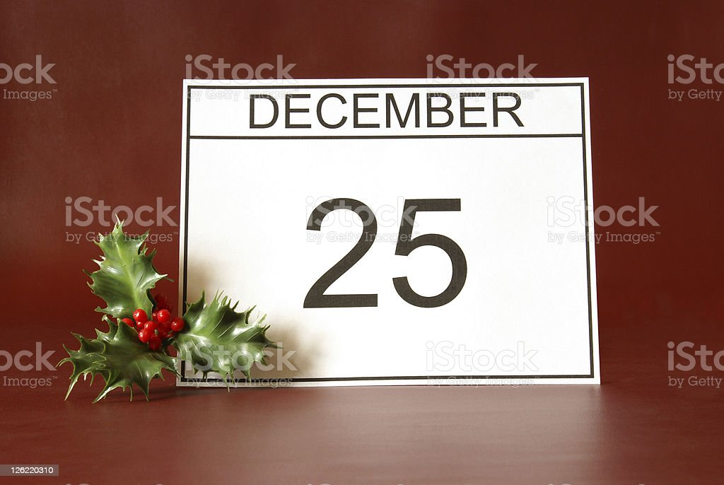 Christmas Day royalty-free stock photo