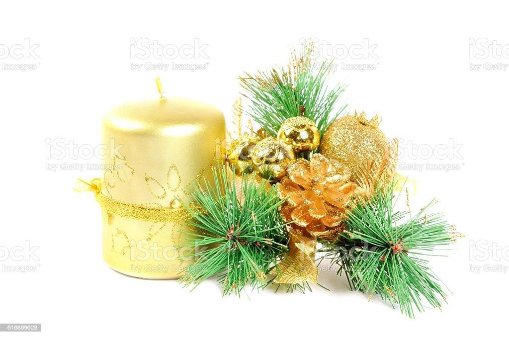 Christmas decor on white stock photo
