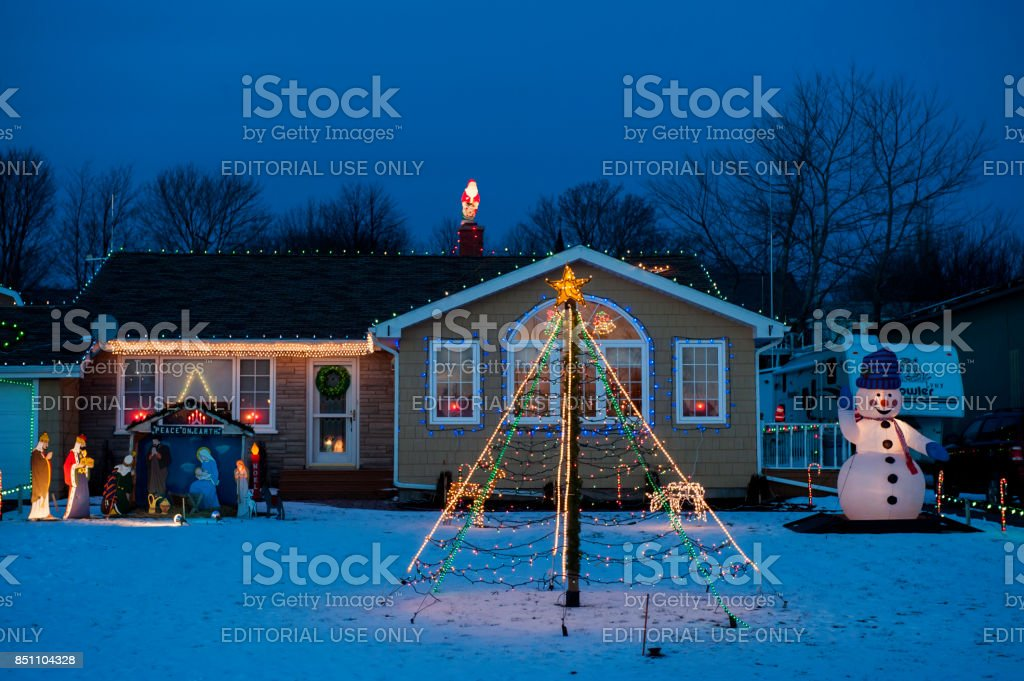 Prince Edward Island, Canada - December 13, 2012: The houses are...